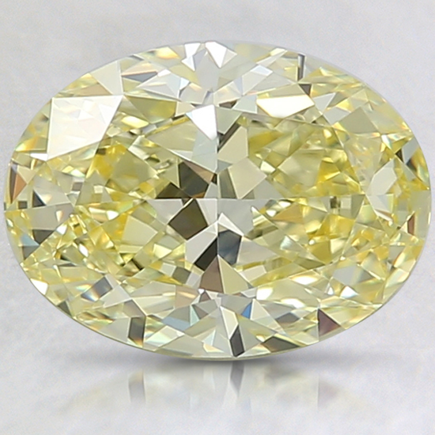 2.22 Ct. Fancy Vivid Yellow Oval Lab Created Diamond