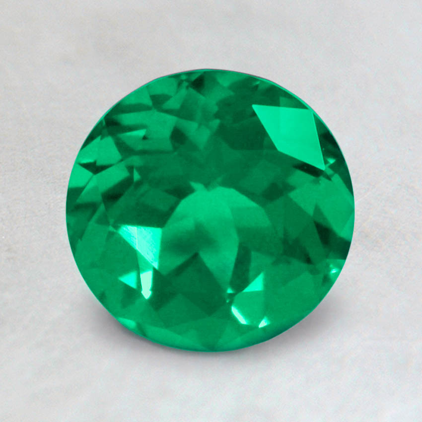 7mm Lab Created Round Emerald
