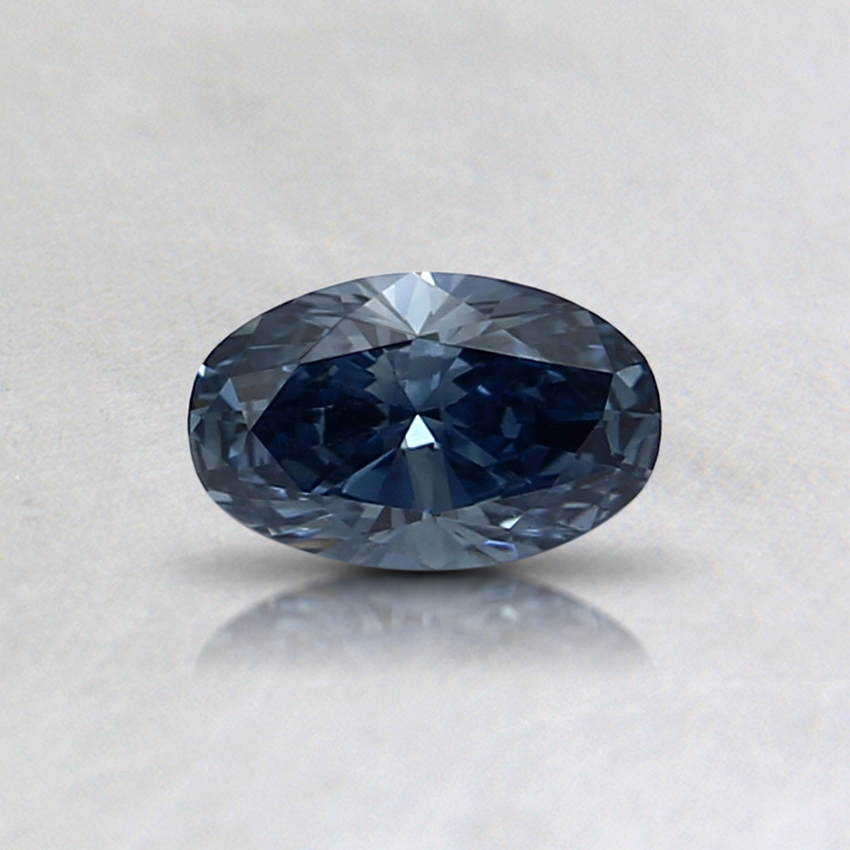 0.32 Ct. Fancy Intense Blue Oval Lab Created Diamond