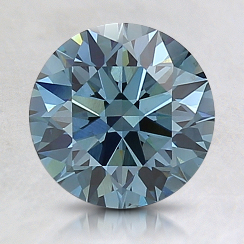 1.78 Ct. Fancy Intense Blue Round Lab Created Diamond