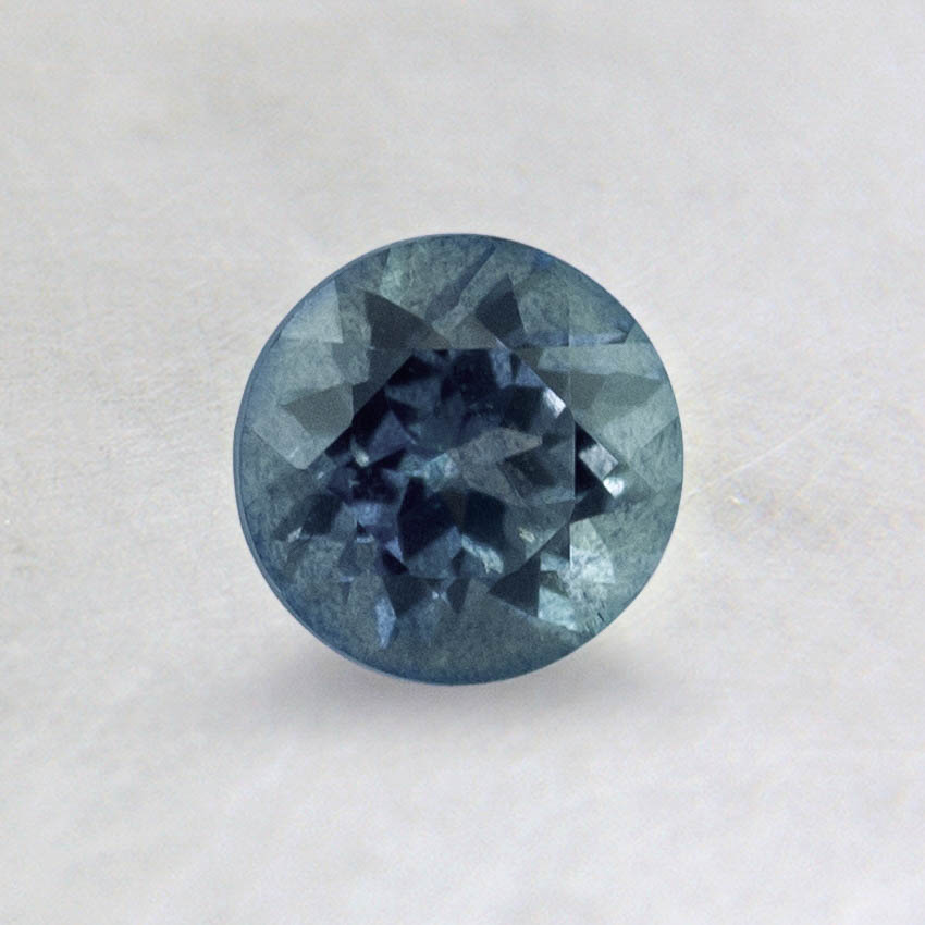 5mm Light Blue Round Sapphire, top view
