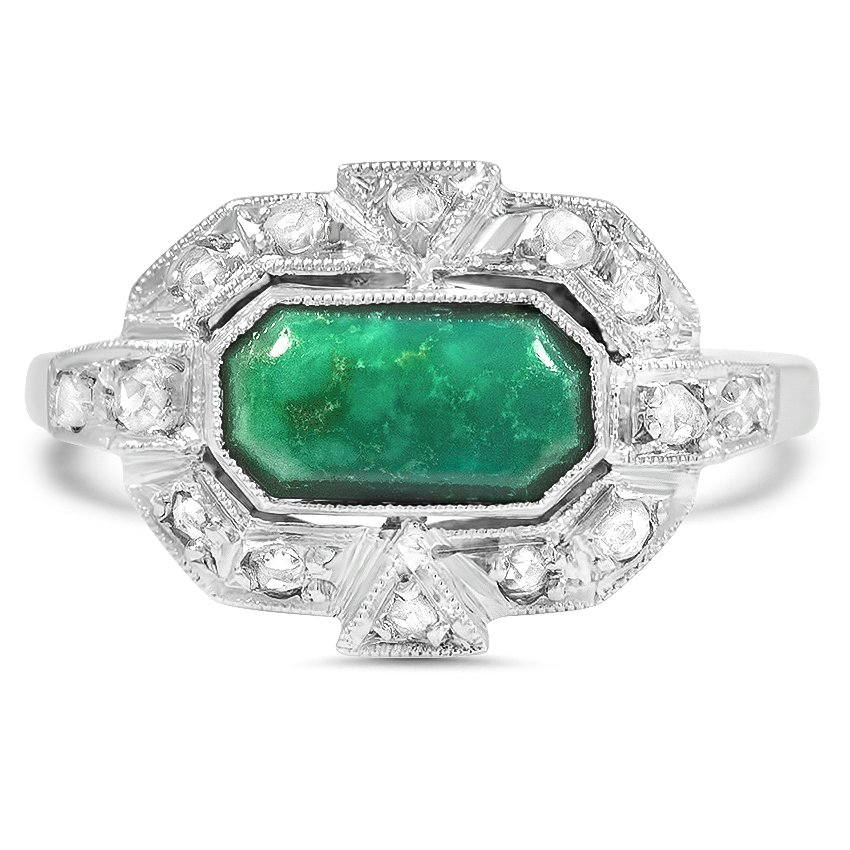 Art Deco Turquoise Vintage Ring