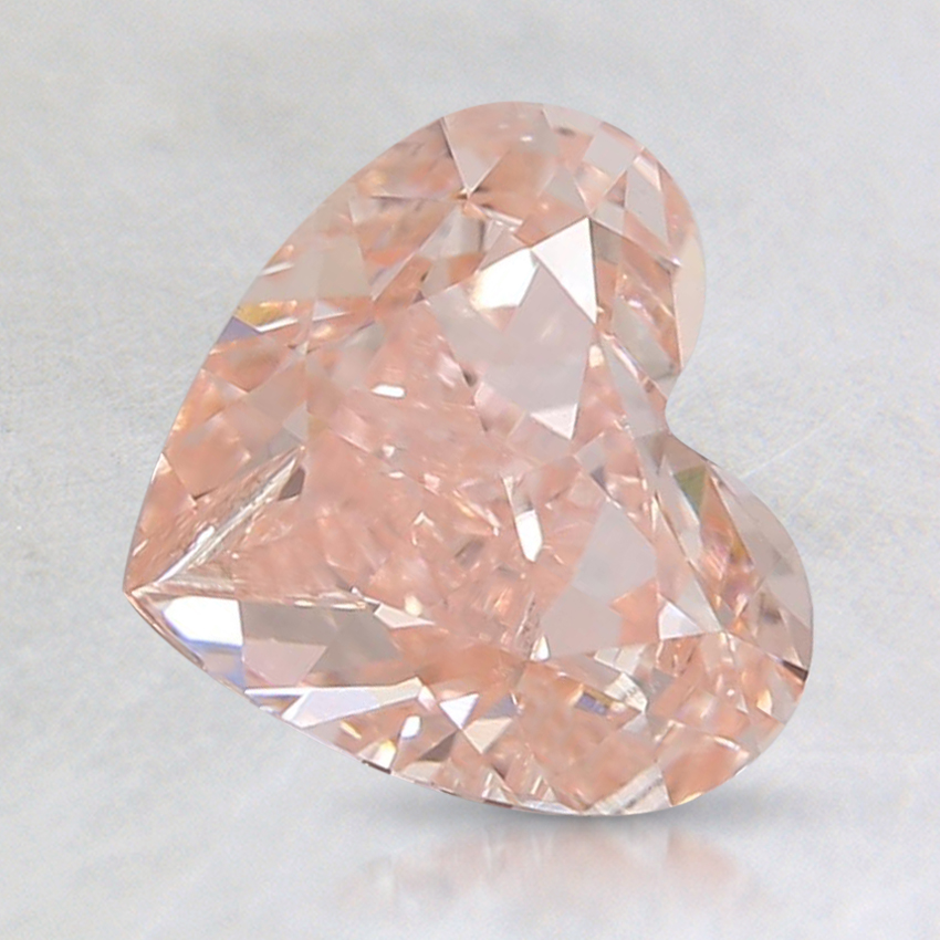 1.22 Ct. Fancy Orangy Pink Heart Lab Created Diamond
