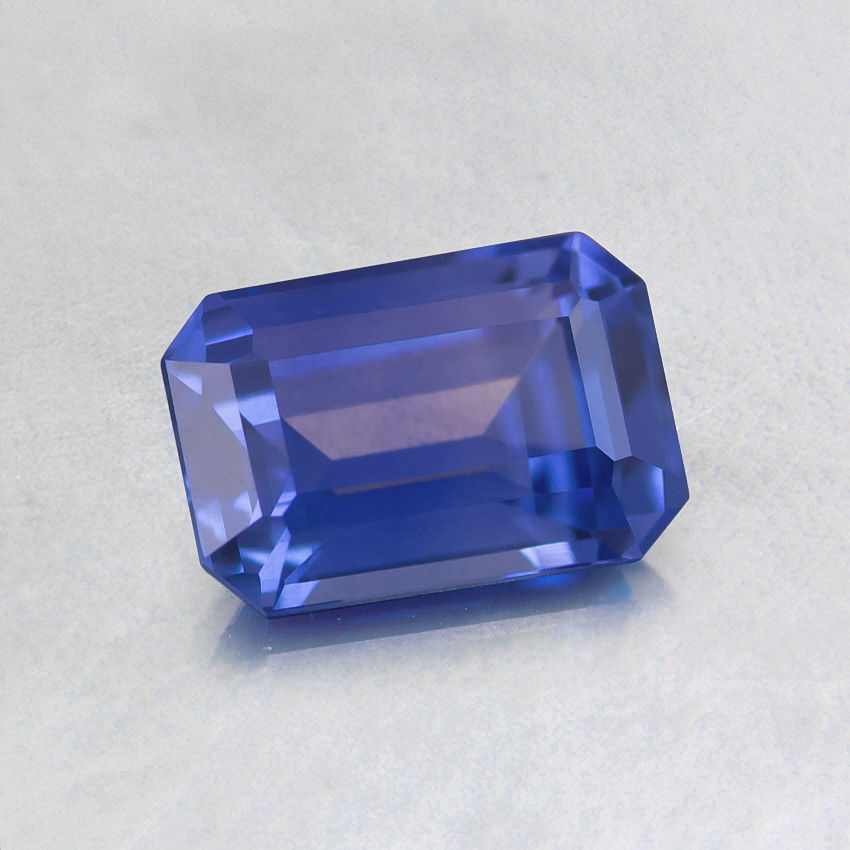 6.3X4.3mm Premium Blue Emerald Sapphire, top view