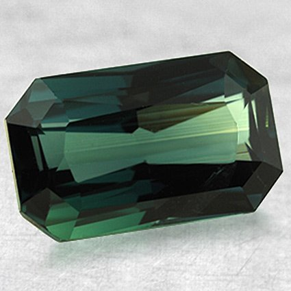 12.5x7.5mm Super Premium Green Emerald Sapphire, top view