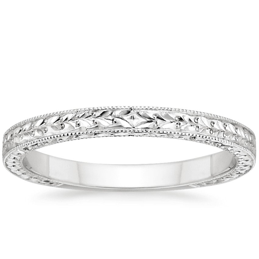 18K White Gold Verona Ring, top view