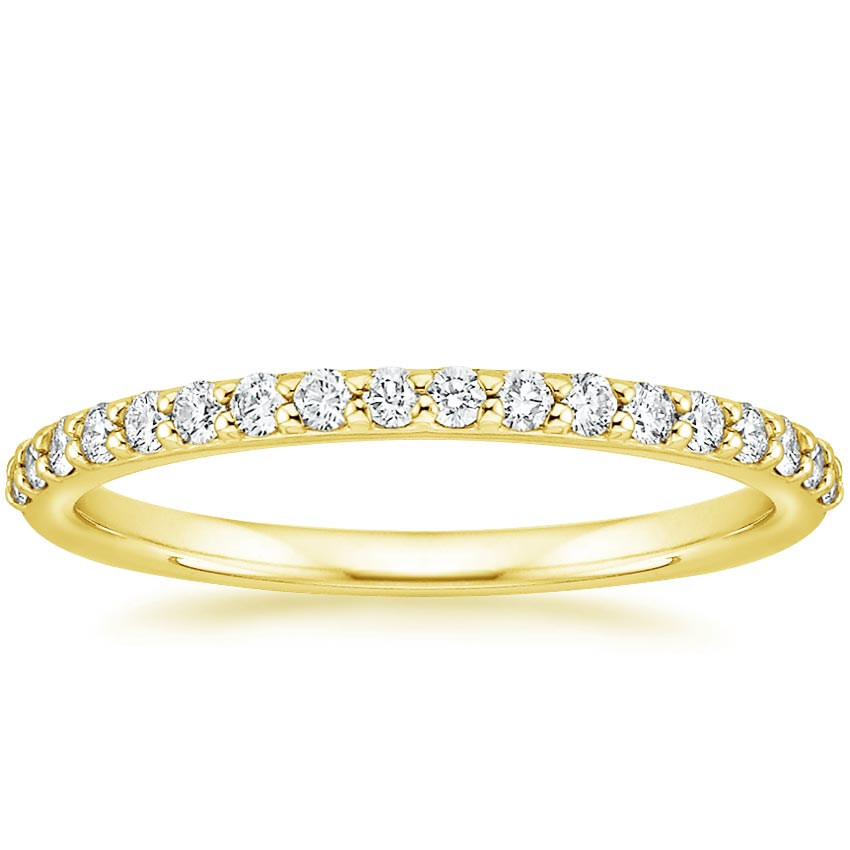 Yellow Gold Petite Shared Prong Diamond Ring (1/4 ct. tw.)