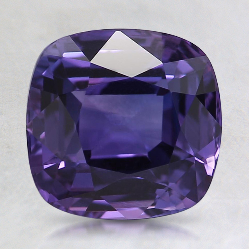 7.9x7.7mm Premium Purple Cushion Sapphire