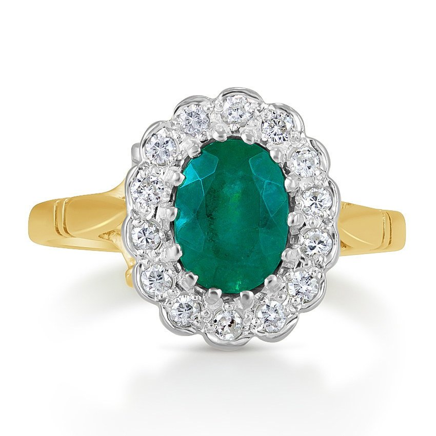 Art Deco Emerald Vintage Ring