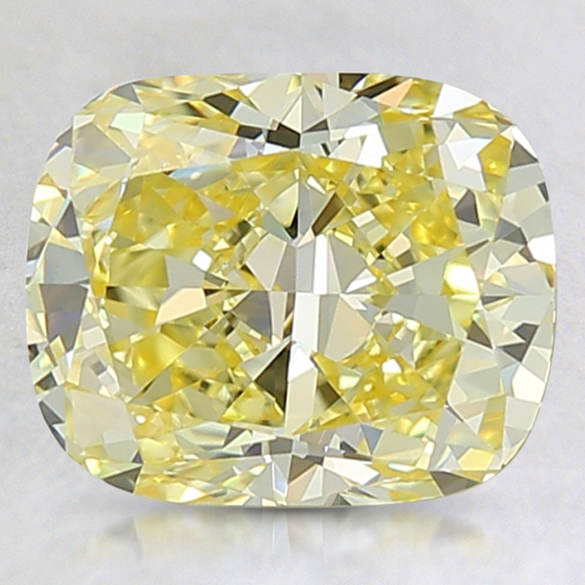 2.71 Ct. Fancy Intense Yellow Cushion Lab Created Diamond