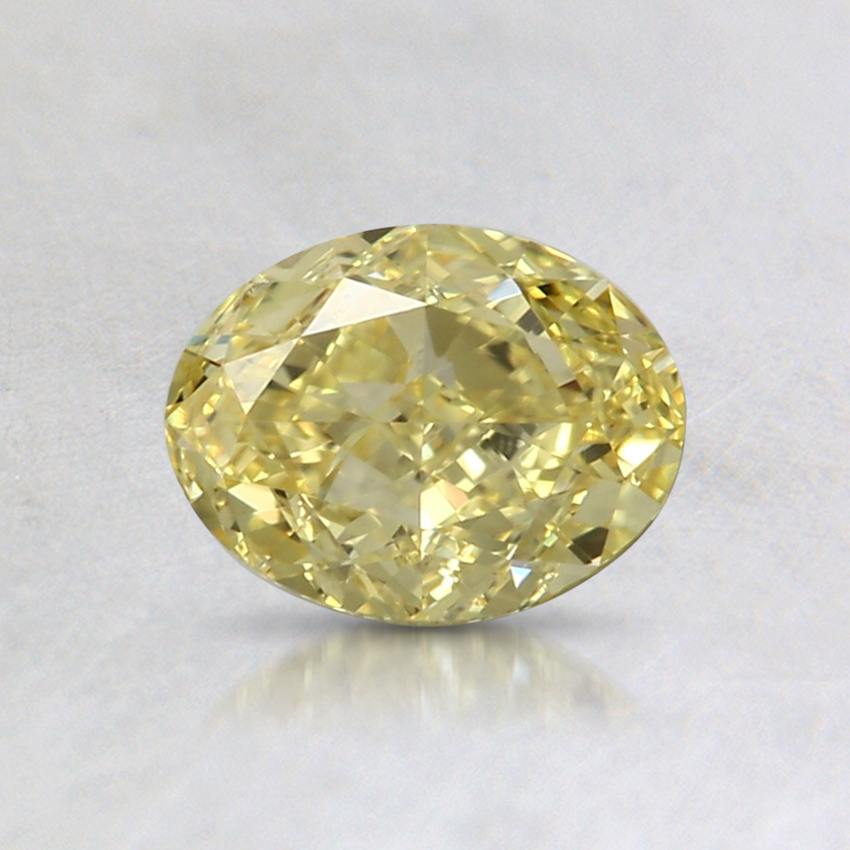 0.70 Ct. Fancy Intense Yellow Oval Colored Diamond
