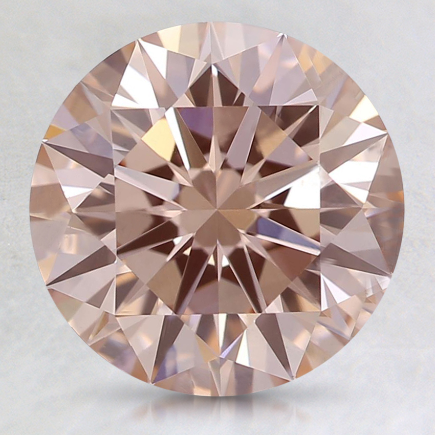 2.50 Ct. Fancy Orangy Pink Round Lab Created Diamond