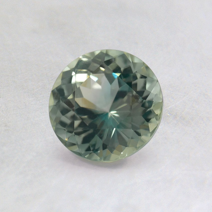 5.5mm Light Green Round Sapphire