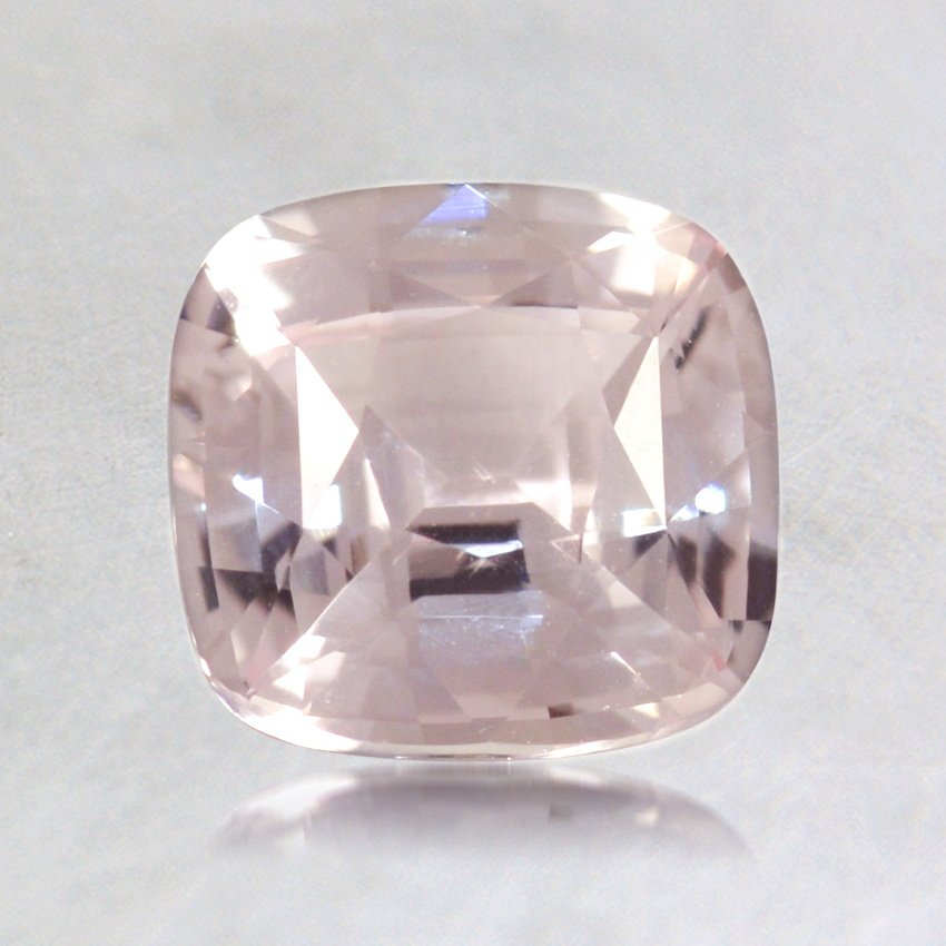 6.5mm Yellowish Peach Cushion Sapphire, top view