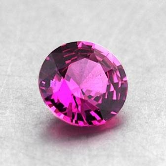 5.5mm Pink Round Sapphire, top view