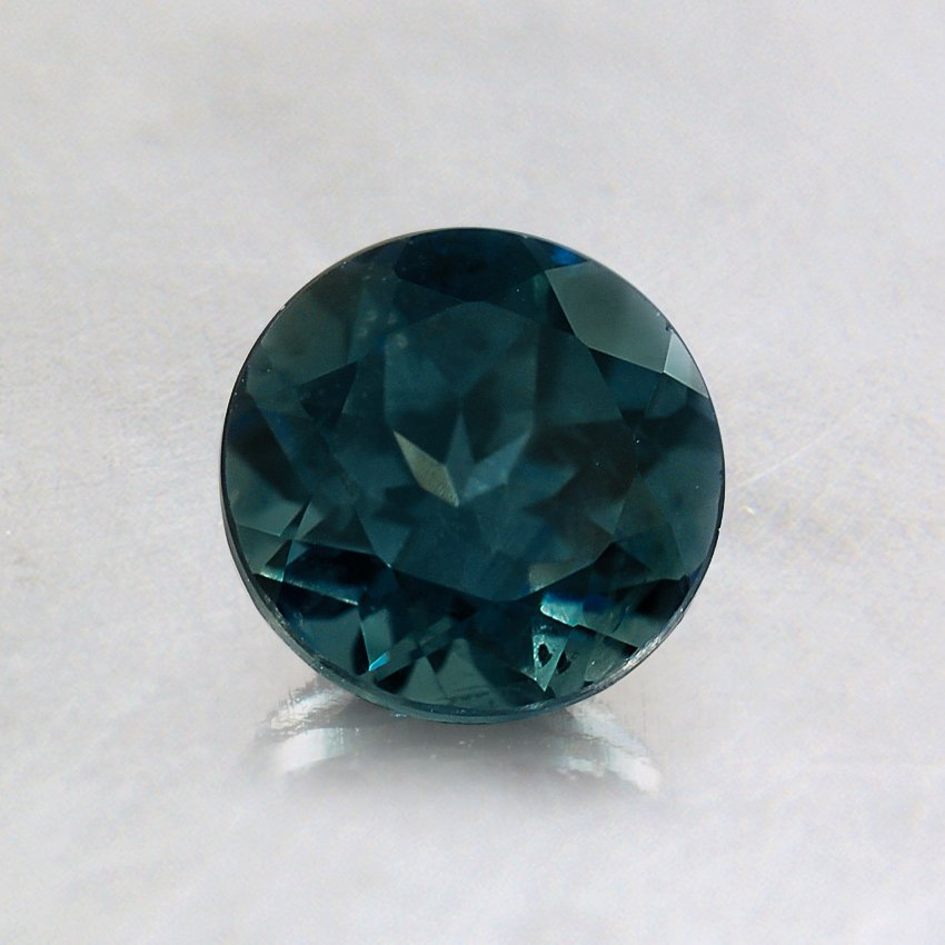 5.5mm Premium Montana Teal Round Sapphire, top view