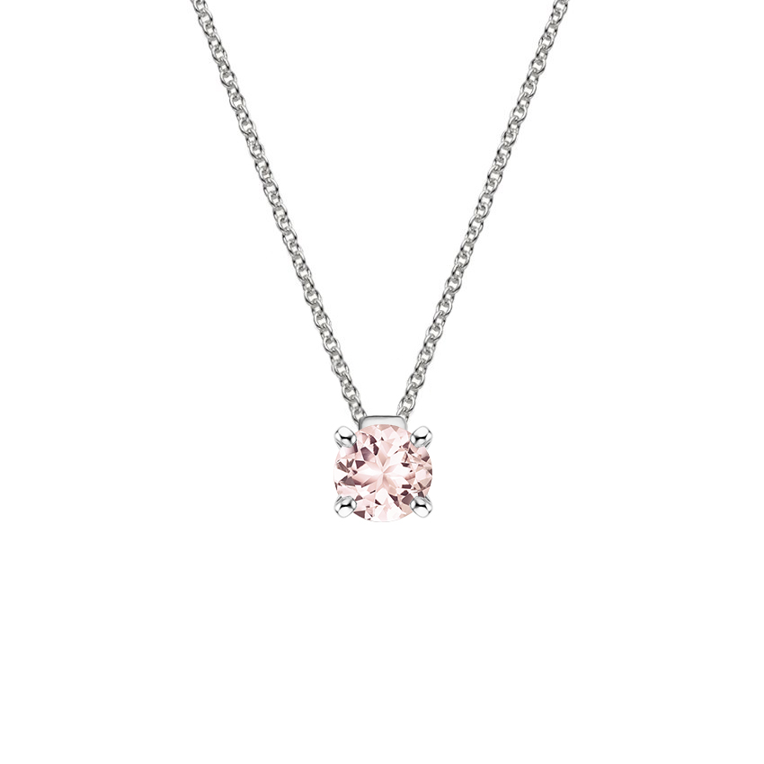 Floating Solitaire Morganite Pendant