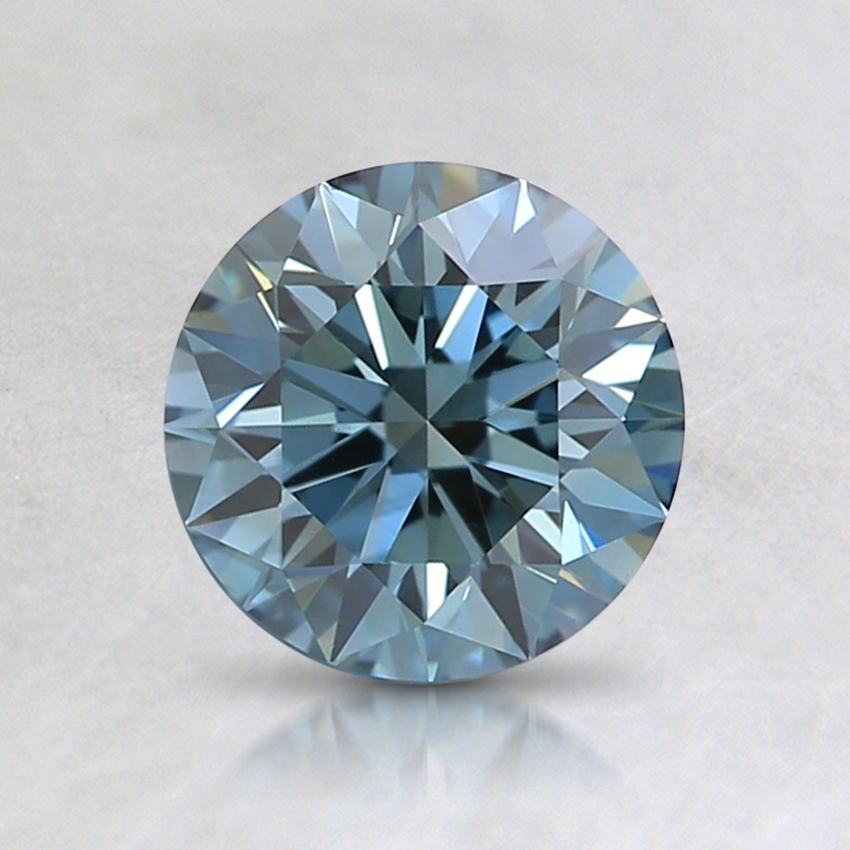 0.92 Ct. Fancy Green-Blue Round Lab Created Diamond