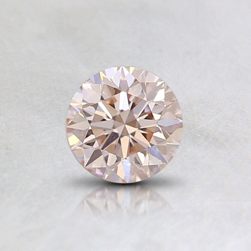 0.30 Ct. Light Orangy Pink Round Lab Created Diamond