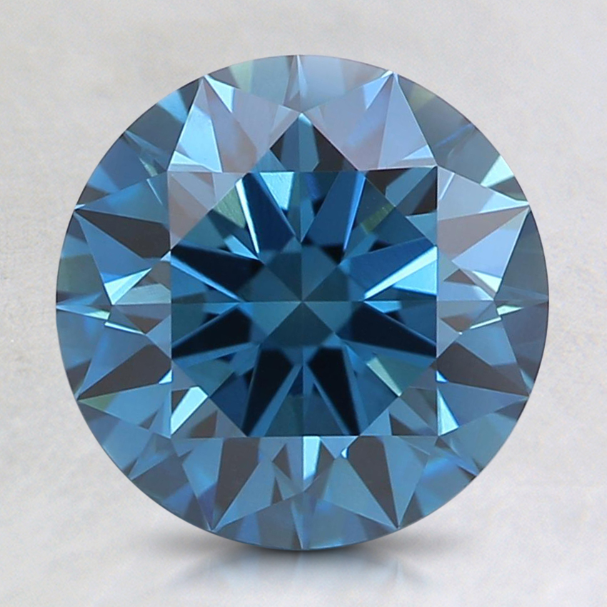 2.05 Ct. Fancy Dark Greenish Blue Round Lab Created Diamond