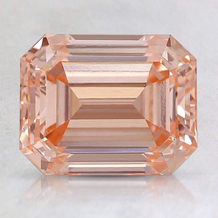 2.48 Ct. Fancy Orangy Pink Emerald Lab Created Diamond