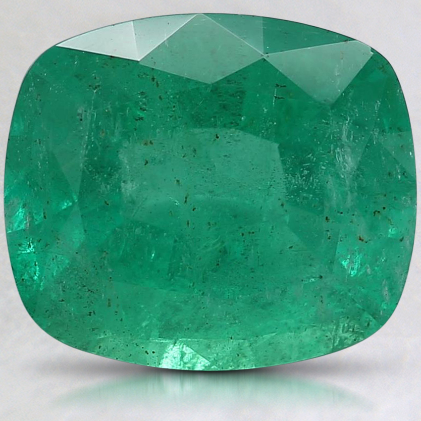 10.5x9mm Cushion Emerald