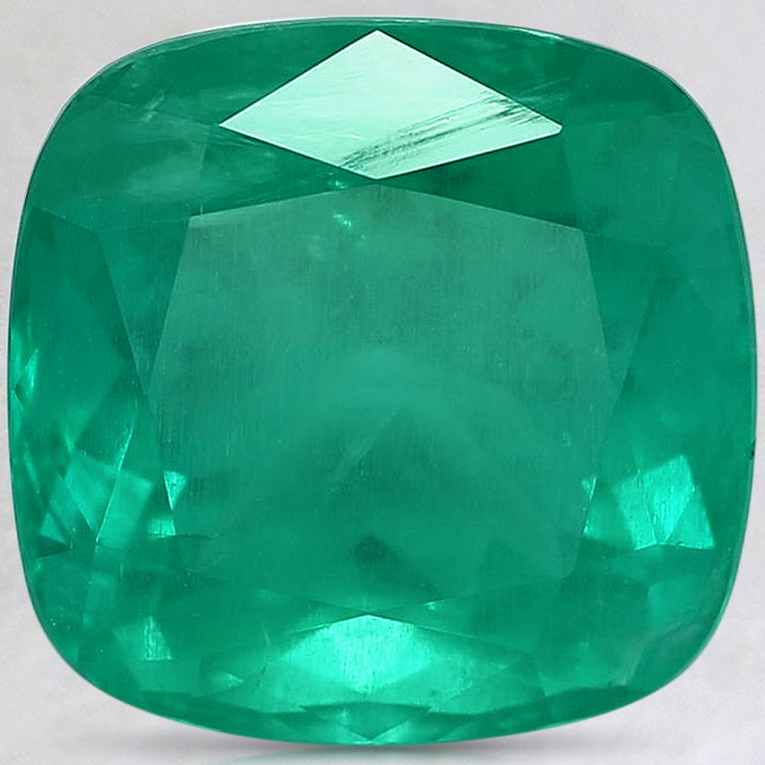10.7x10.5mm Premium Cushion Emerald
