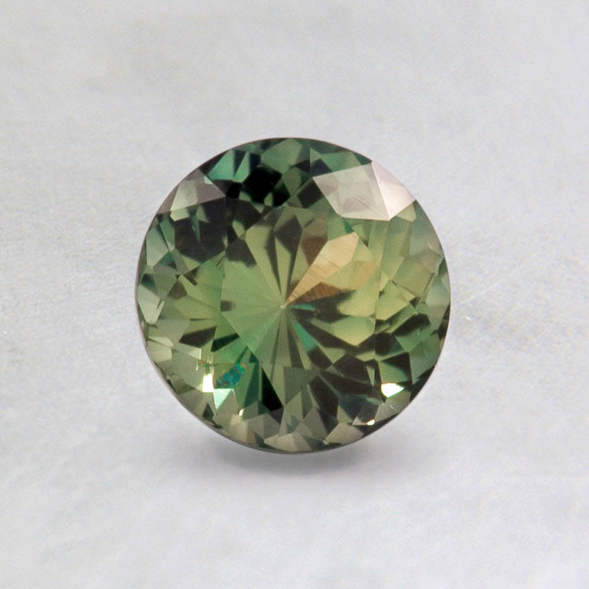5.5mm Intense Green Round Sapphire, top view