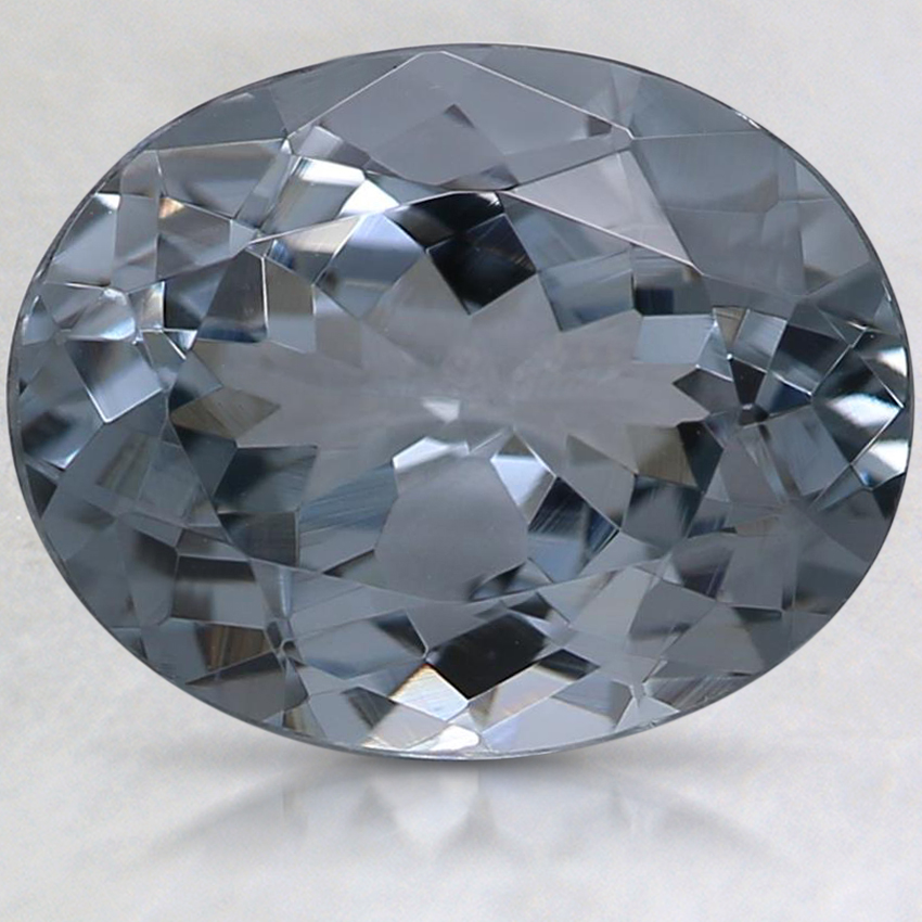 10.1x8mm Gray Oval Spinel