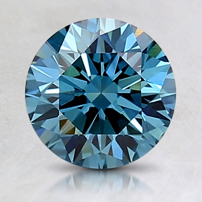 1.70 Ct. Fancy Deep Blue Round Lab Created Diamond