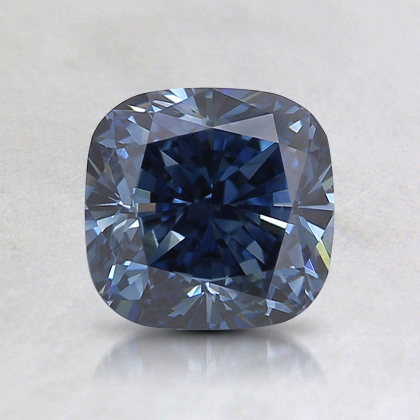 1.31 Ct. Fancy Deep Blue Cushion Lab Created Diamond