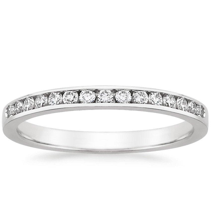 Petite Channel Set Round Diamond Ring Brilliant Earth