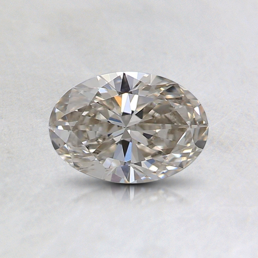 0.50 Ct. Faint Gray Oval Lab Created Diamond