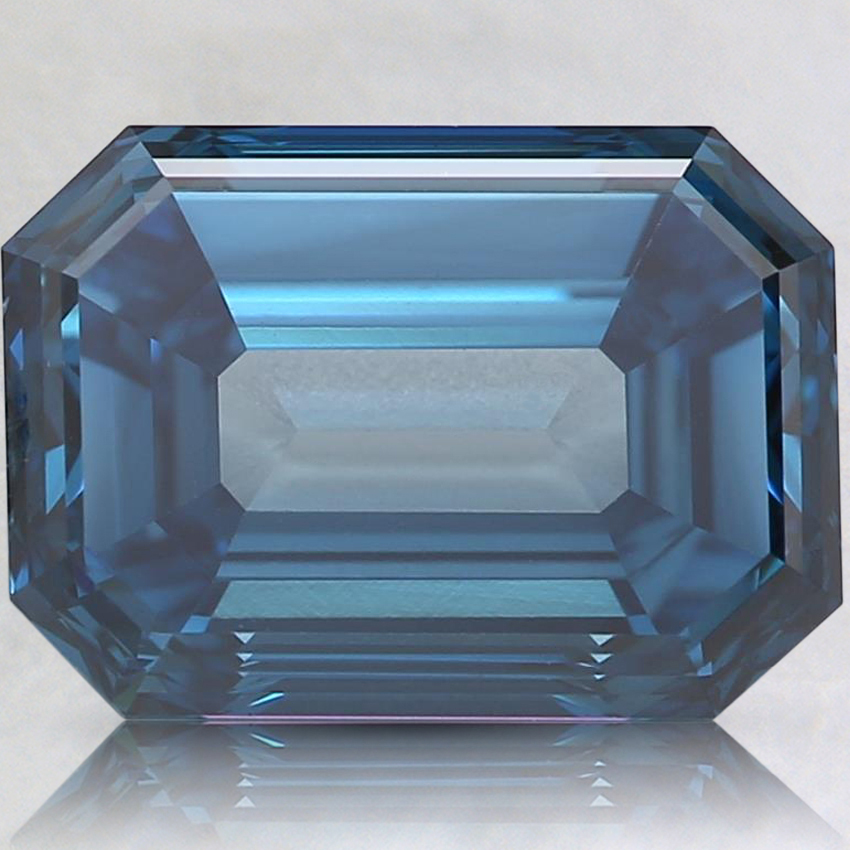 3.18 Ct. Fancy Dark Blue Emerald Lab Created Diamond