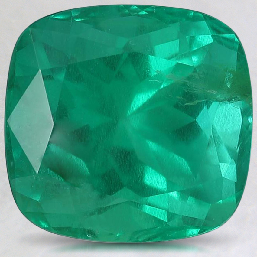 10.1x9.7mm Super Premium Cushion Emerald