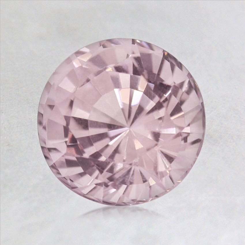 7mm Light Pink Round Sapphire, top view