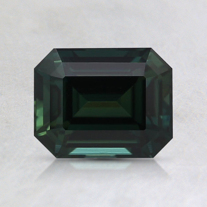 6.8x5.4mm Unheated Teal Emerald Sapphire