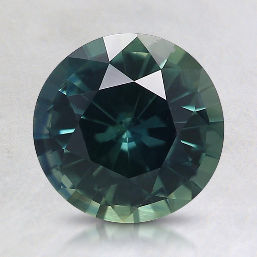 7.6mm Teal Round Sapphire