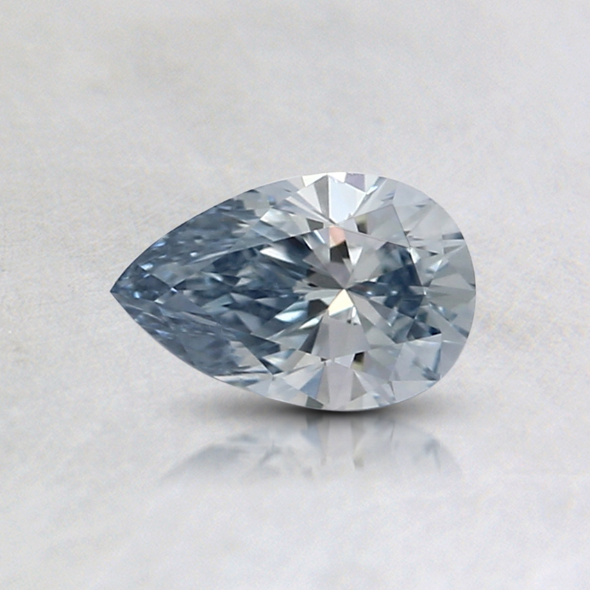 0.41 Ct. Light Blue Pear Lab Created Diamond