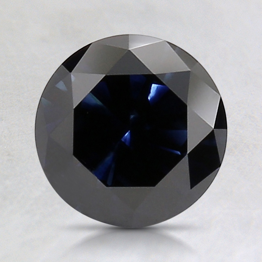 1.57 Ct. Fancy Dark Blue Round Lab Created Diamond