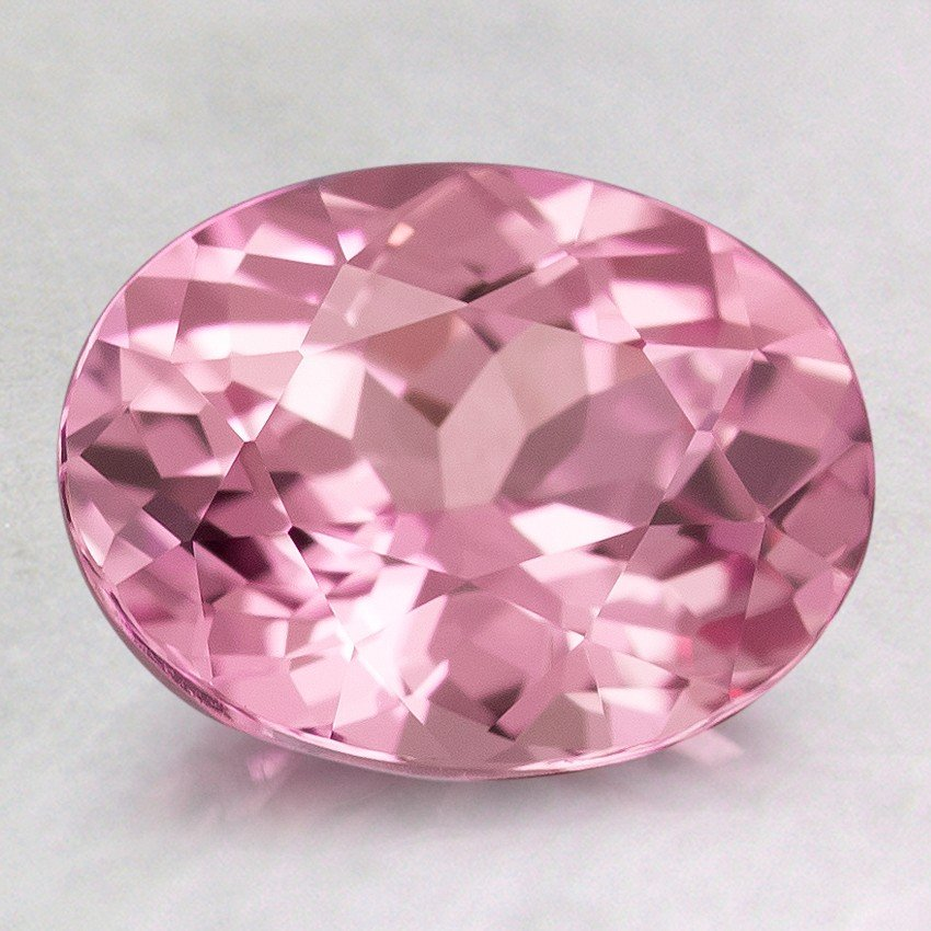 9x7mm Premium Pink Oval Sapphire, top view