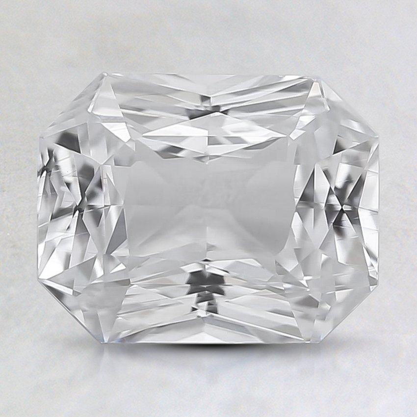8.4x6.7mm Unheated White Radiant Sapphire