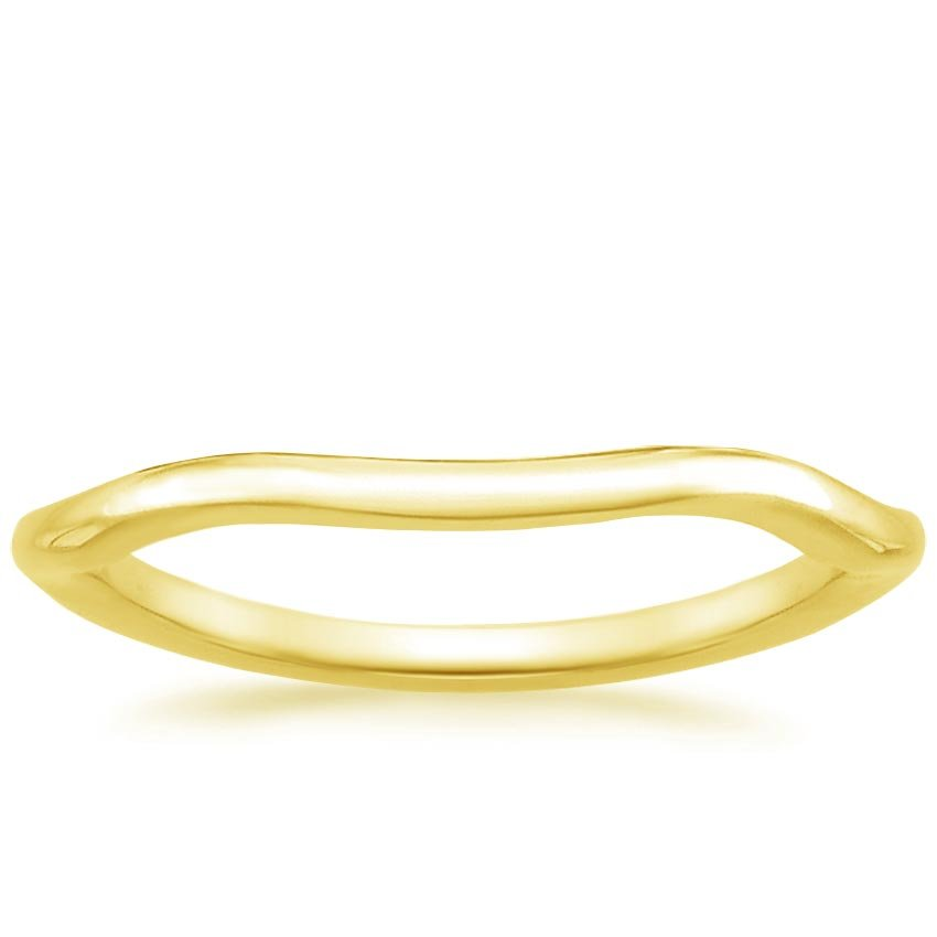 18K Yellow Gold Budding Willow Ring, top view