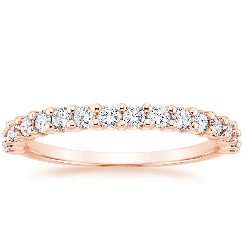 Rose Gold Shared Prong Diamond Ring (1/2 ct. tw.)
