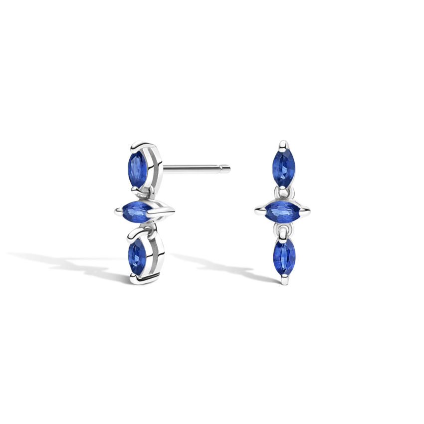 Three Marquise Sapphire Earrings