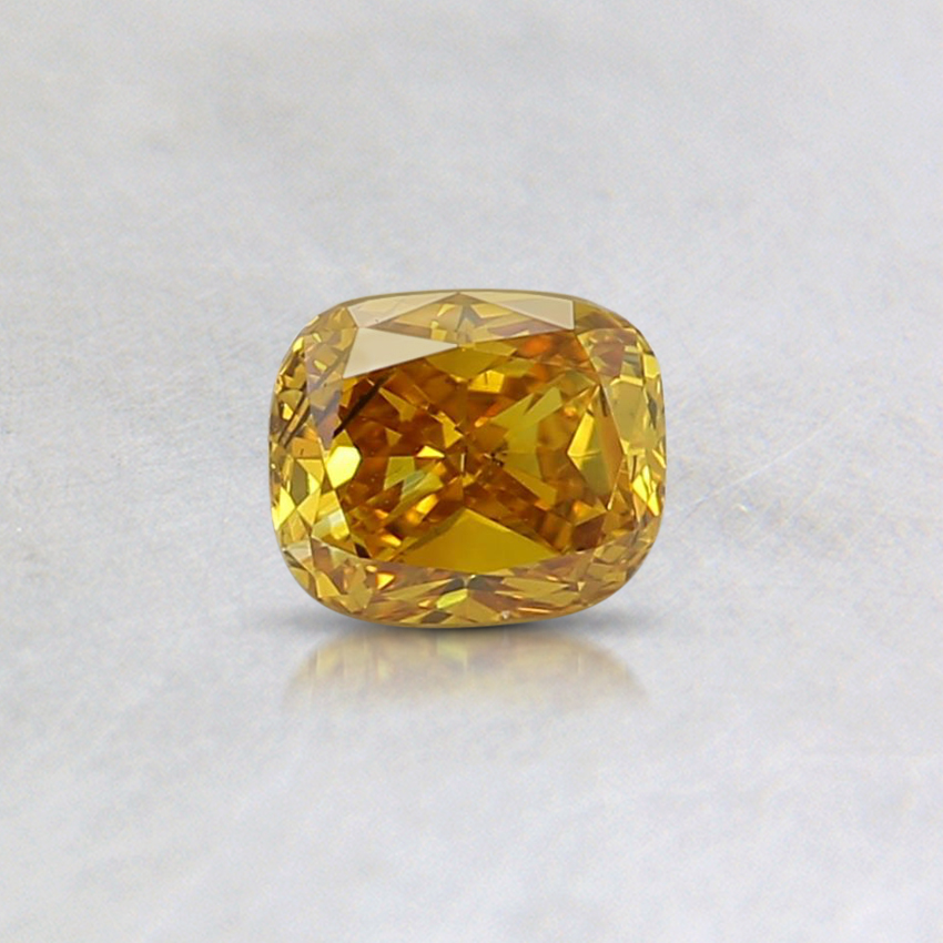 0.32 Ct. Fancy Vivd Orangy Yellow Cushion Lab Created Diamond