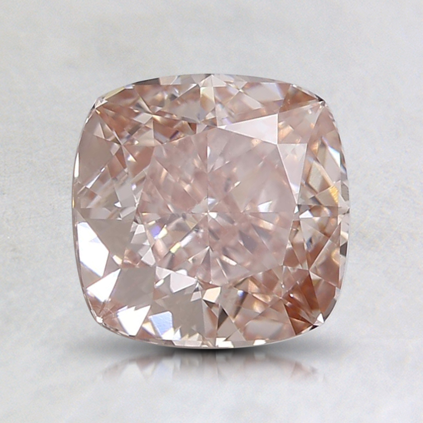 1.50Ct. Fancy Brownish Pink Cushion Lab Created Diamond