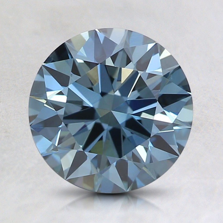 1.55 Ct. Fancy Intense Blue Round Lab Created Diamond