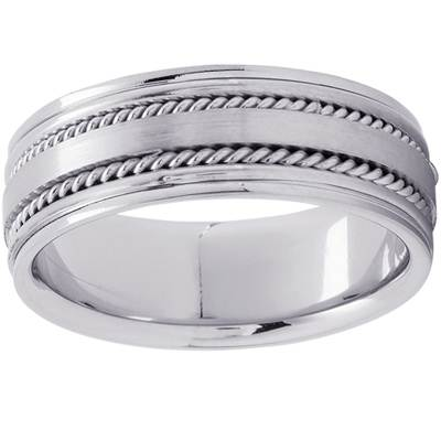 Platinum Apollo Wedding Ring, top view