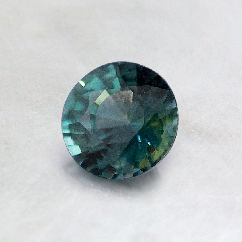 5mm Unheated Green Round Sapphire